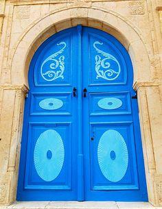 Two Tone Blue Door by Todor Kamenov 石拓, via Flickr ~ Tunisia