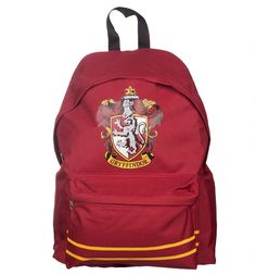This official #HarryPotter #backpack has ample room for books on wizardry and wands, so you can go about your daily business! With the #Gryffindor Crest on the front you can pledge your allegiance to the same #Hogwarts house as Harry, Hermione and Ron. xoxo