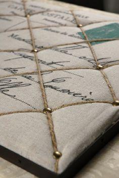 Burlap & Twine 22 in. Memo Boards, Save On Crafts, Diy And Crafts, Furniture Makeover, Diy Furniture, Fabric Board, Burlap Crafts, Burlap Lace, Photo Boards