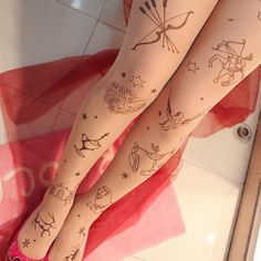 astrological signs tattoo stockings (Repinned)
