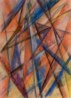 Mikhail Larionov, Rayonnist Composition Rayonism,  Russian avant-garde art, abstract art in Russia, лучизм, русский авангард, искусство 20 века, абстрактное искусство, Goncharova