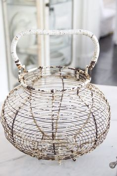 vintage egg basket...
