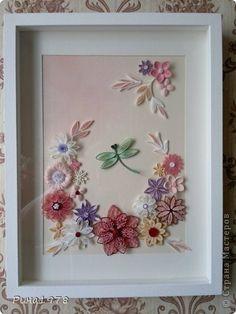 Картина, рисунок, панно Квиллинг: Прекрасная пора... Бумажные полосы День рождения. Фото 1