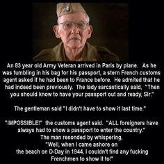 an 83 year old army veteran arrived in paris by plane An 83 year old Army veteran arrived in Paris by plane...