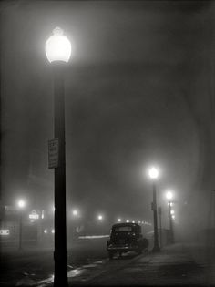 Jack Delano  Foggy night in New Bedford, Massachusetts, 1941