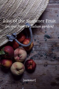 A little collection of late summer fruit recipes from our Italian garden on Steller