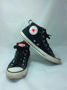 c92fbb328fa7 Converse All Stars Men s 8 Women s 10 Black Canvas High Tops Chuck Taylor  Shoes