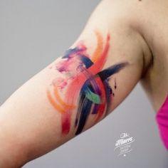 Bicep Brush Strokes Tattoo                                                                                                                                                                                 More