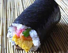 Background information on the Ehomaki Sushi rolls. It describes the ingredients, what they represent and why they are not cut into bite sized pieces.