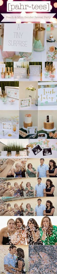 Moodboard Peach and Mint Gender Reveal Party | pahr-tees.blogspot.com