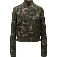 UNIQLO Carine Roitfeld Military Blouson (£50) ❤ liked on Polyvore featuring olive and uniqlo