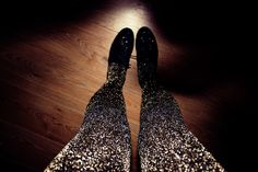 23 ways to glam up your LBD...most of which come with DIY instructions.....Get yourself some sparkly tights.