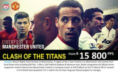 Watch two of the biggest soccer legends Liverpool verses Man United! Call us on 031 2010 630 for more info.