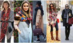 Ce fulare, saluri si esarfe se poarta in acest sezon - Luvie. 2020 Fashion Trends, Plaid Scarf, Scarf Wrap, Missoni, Scarves, Kimono Top, Versace, Perm, Hollywood