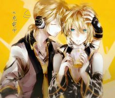 Kagamine Len & Rin • Wallpaper • Sibling love • Vocaloid Wallpaper