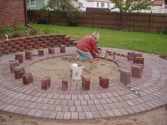 """Backyard Re-do, Completely done by ourselves..including taking down the large tree in the center of yard bringing in truckloads of top soil laying the brick as well as making the """"tool shed""""., Gardens Design"""