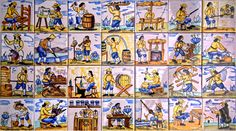 Mini Maceteros de azulejos de manises