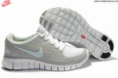 Latest Listing Discount Womens Nike Free Run Grey White Shoes The Most Flexible Running Shoes