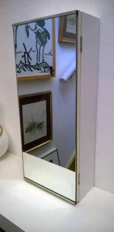 Jahrgang Badezimmer Schrank Spiegel Badezimmer Speicher Schrank Medizin Schranktür schmaler gespiegelten minimalistisch maskulin