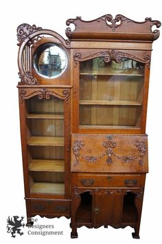 Specializing In High Quality Handmade Cabinetry Until 1933. This Gorgeous  Piece Was Produced In The Factory Around The Turn Of The Century.