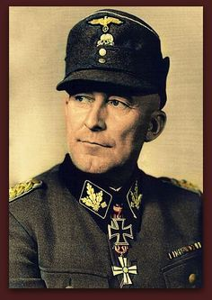 Matthias Kleinheisterkamp was an SS Obergruppenführer (General). During World War II, Kleinheisterkamp commanded the 3. SS-Division Totenkopf, 6. SS-Gebirgs-Division Nord, 2. SS-Division Das Reich, III.(germanische) SS-Panzerkorps, VII. SS-Panzerkops, IV. SS-Panzerkops, XII. SS-Armeekorps and the XI. SS-Armeekorps. He was also a winner of the Knight's Cross of the Iron Cross with Oak Leaves. In April 1945, he committed suicide while a POW in Russian hands.B/W Photo Colourised by Pearse.