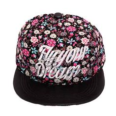 FLORAL SUPREME SNAPBACK . Official on-field cap of major league baseball. Premium Headwear. Performance Headwear. Revolutionary Wicking along with Superior Drying Technology. Shrink Resistant. Very comfortable to wear with adjustable strap at the back. Hard and Sturdy Brim. The BLACK Coloured Cap and BLACK LEATHER Brim along with BLUE and PINK Floral design make an extraordinary colour combination. http://roofcart.com/snapback/fly-your-dream-black-floral-snapback  Keep Following #roofcart.