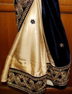 Elley fashion: pure silk saari with heavy velwet pallu......with ...