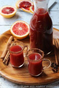 Spiced blood orange cocktail