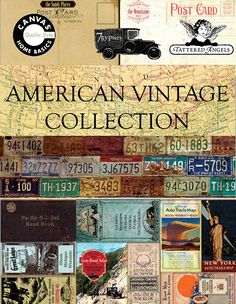 American Vintage Product Collection - http://canvascorpimages.com/7gypsies-american-vintage/ Travel Scrapbook, Creative Studio, Art Supplies, Catalog, Cha Cha, Printable