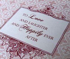 On wedding invite