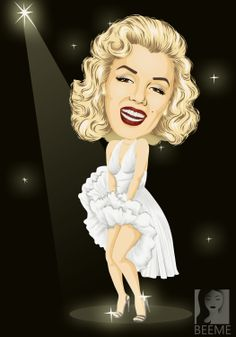 """Marilyn Monroe was an American actress and model. Famous for playing """"dumb blonde"""" characters, she became one of the most popular sex symbols of the emblematic of the era's attitudes towards sexuality. Marilyn Monroe Artwork, Dope Cartoons, Blonde Actresses, Blonde Women, American Actress, Vector Art, Digital Art, My Arts, Disney Princess"""