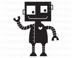 Robot Vinyl Decal size X-LARGE Children's por AbbysVinylWallArt