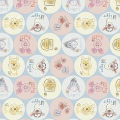 By The Metre *Free P /& P* Disney Winnie the Pooh 100/% Cotton Cream Craft Fabric