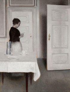 Ida reading a letter  1899