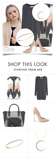 """""""SHOP - Pearl Collective - Necklace&Bracelet"""" by pearlcollective ❤ liked on Polyvore featuring Rebecca Taylor, Fine Collection and Casadei"""