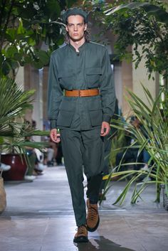 A look from the Umit Benan Spring 2016 Menswear collection.