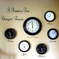 A Moment In Time Changed Forever Vinyl by DivaDecalsandDesign, $35.00