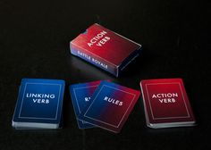 """Battle Royale"" is a card game for student pairs that helps reinforce what you've taught them about action verbs and linking verbs. It covers common linking verbs (are, appear, seem), sensory linking verbs (smell, feel, look), and less common linking verbs (grow, remain). It covers a wide range of action verbs including: put, get, throw, steal, insult, jump, find, pummel, use, smack, apologize, and stub, to name a few."