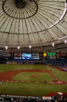 Tropicana Field , Florida Yes, that is an indoor baseball field.
