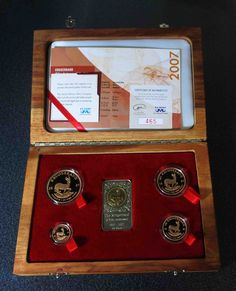 South Africa ZAR 40 Year Anniversary Krugerrand Gold Set