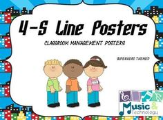 I decided to make these posters to have students ask themselves if they are in a 4-S Line when lining up at the end of the class? If they answer yes to all the posters than they are ready for the hallway. The 5 S's include:Standing, Still, Silent, and Straight.There are 13 different backgrounds to choose from or you can mix and match them.Other Superhero Themed Products:Music Has Super Powers!