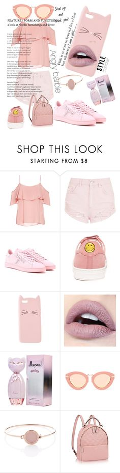 """Go pink"" by mertirierikson ❤ liked on Polyvore featuring BB Dakota, Topshop, Tod's, Anya Hindmarch, Charlotte Russe, Karen Walker and Michael Kors"
