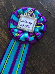 Hey, I found this really awesome Etsy listing at https://www.etsy.com/listing/241064686/purple-and-turquoise-mommy-corsage