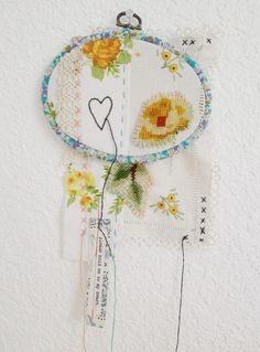 Collage Embroidery Hoop Art