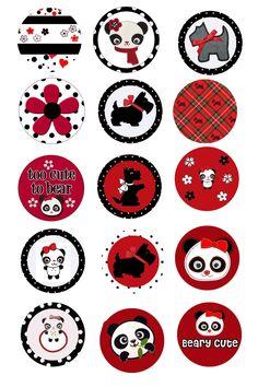 More panda bottle cap designs