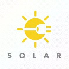 The sun is the form, and since its solar electricity it's a plug inside it, making counter form Logos, Logo Branding, Solar Logo, Summer Logo, Sun Logo, Water Logo, Make Your Own Logo, Elegant Business Cards, Logo Maker