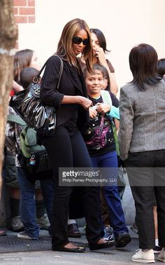 Legendary supermodel IMAN (David Bowie's wife) picking up 9-year-old daughter Lexi Jones at her school in the West Village, NYC on September 29th, 2009.