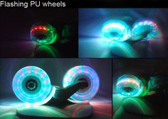 Four Wheels Cool Lighting Effect Drift Skate Freeline Skate Flying Skateboard with Aluminium Alloy Deck Board-41.17 and Free Shipping  GearBest.com