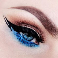 Liner so special #brown mix #blue on #eye #eyeliner #eyebrow
