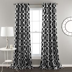 Lush Decor Edward Blackout Window Curtain Pair - Overstock Shopping - Great Deals on Lush Decor Curtains